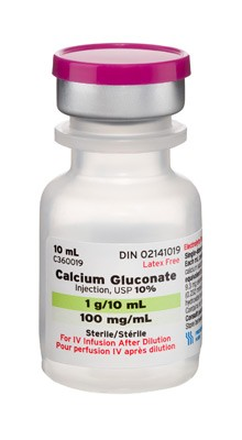Calcium Gluconate, Preservative Free 10%, 100 mg / mL Intravenous Injection Single Dose Vial 10 mL * LIMITED AVAILABILITY – PLEASE ONLY ORDER ONE (1) VIAL CALL US TO ORDER 800-69-MERIT  *