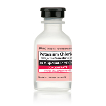 Potassium Chloride Concentrate, Preservative Free 2 mEq / mL Intravenous Injection Single Dose Vial 20 mL