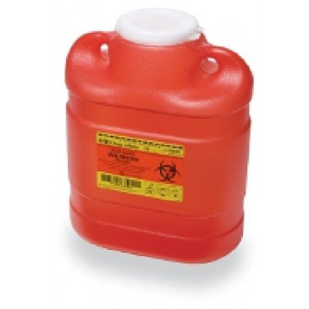 Sharps Container 6.9 Quart Red Funnel Lid
