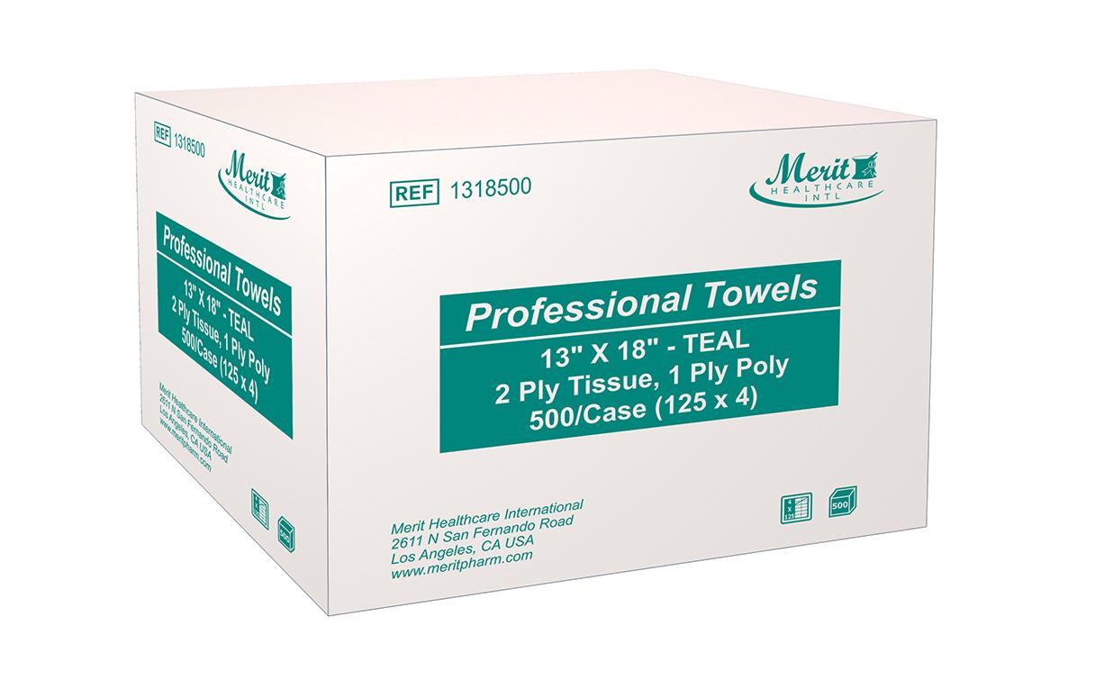 Towel Tissue Poly 13 X 18 Inch Blue