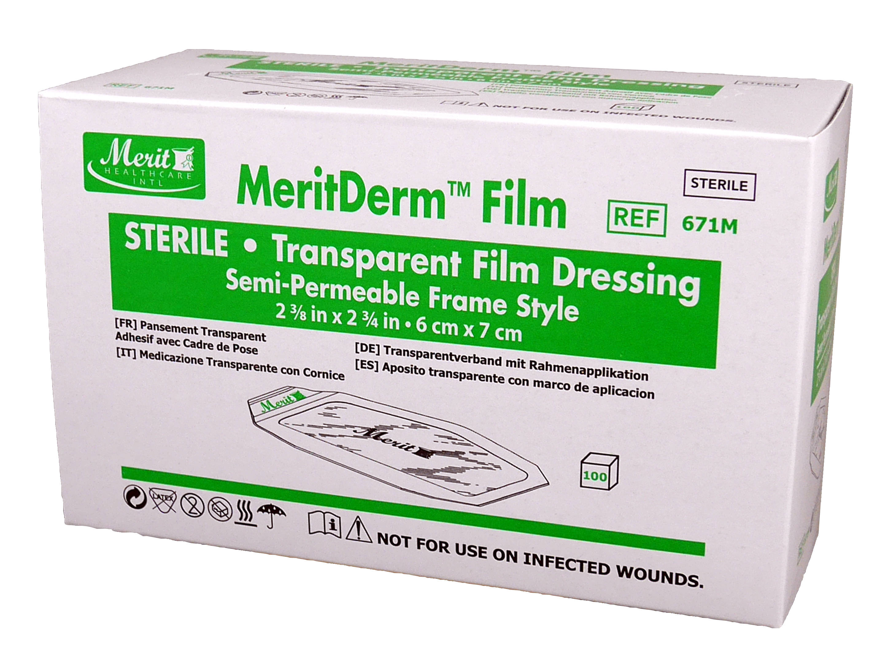 Transparent Film Dressing 2-3/8 X 2-3/4 Inch Frame Style MeriDerm™
