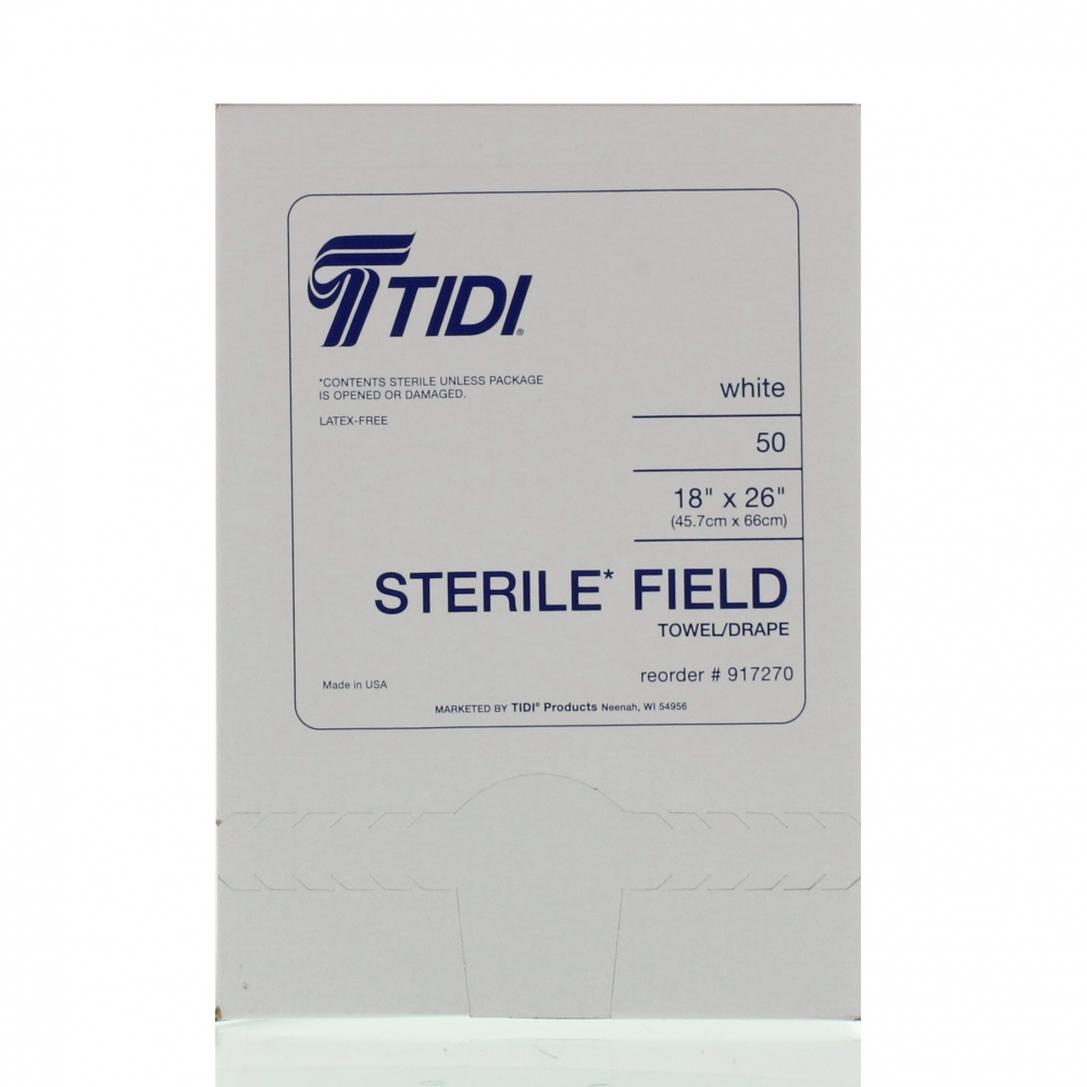 Tidi® Steri-Field Drapes Towel Non-Fenestrated Sterile
