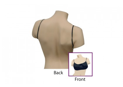 Disposable Bra Backless, Black Small/Medium, Bras Individually Bagged, 100 Bras Per Pack