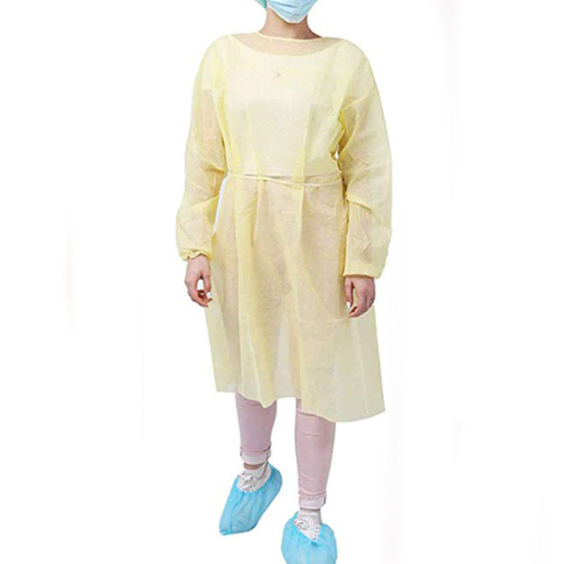 Isolation Gown, Yellow, Polyethylene, 10 per pack # MIGL101 CASE of 100 Gowns (10 x 10)